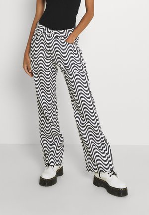 WAVE - Jeans relaxed fit - white/black