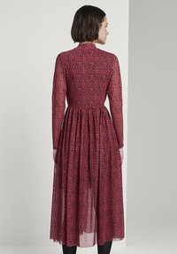 TOM TAILOR DENIM - PRINTED MESH DRESS - Day dress - red - 2
