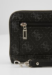Guess - CAMY LARGE ZIP AROUND - Lommebok - coal - 2
