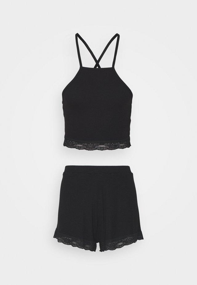 SQUARE SET - Pyjama - black