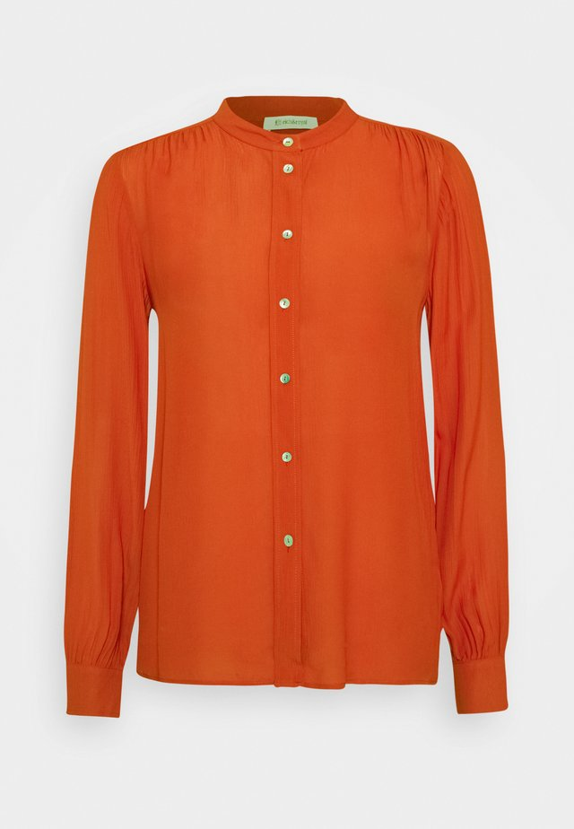 BLOUSE WITH GATHERING DETAIL - Chemisier - rusty red