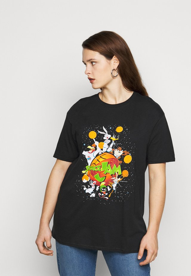 SPACE JAM BASKETBALL - Printtipaita - black