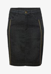 Sheego - Pencil skirt - black denim - 5