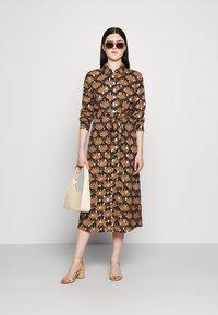 Vila - VIZINO MIDI DRESS - Shirt dress - navy blazer - 1