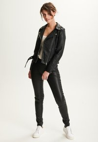 BTFCPH - EMMA - Leather jacket - black silver - 1