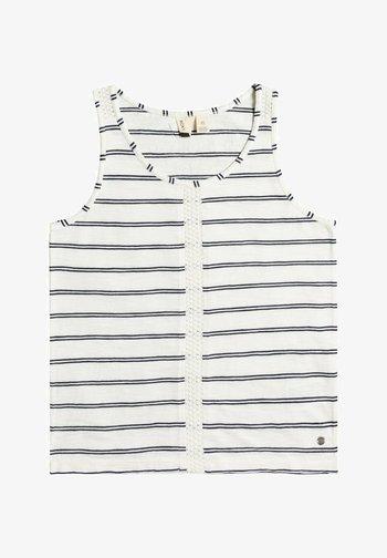 FLYINGDOVSTRIPY  - Top - snow white horiz will stripes