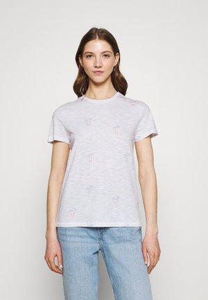 ONLBONE LIFE TOP BOX - Print T-shirt - bright white