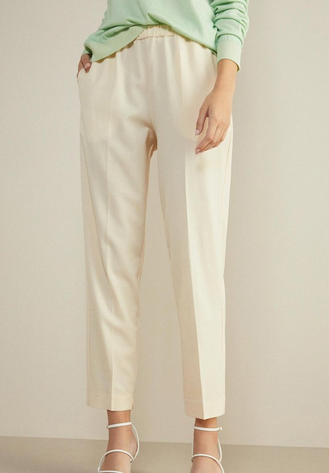 Trousers - panna