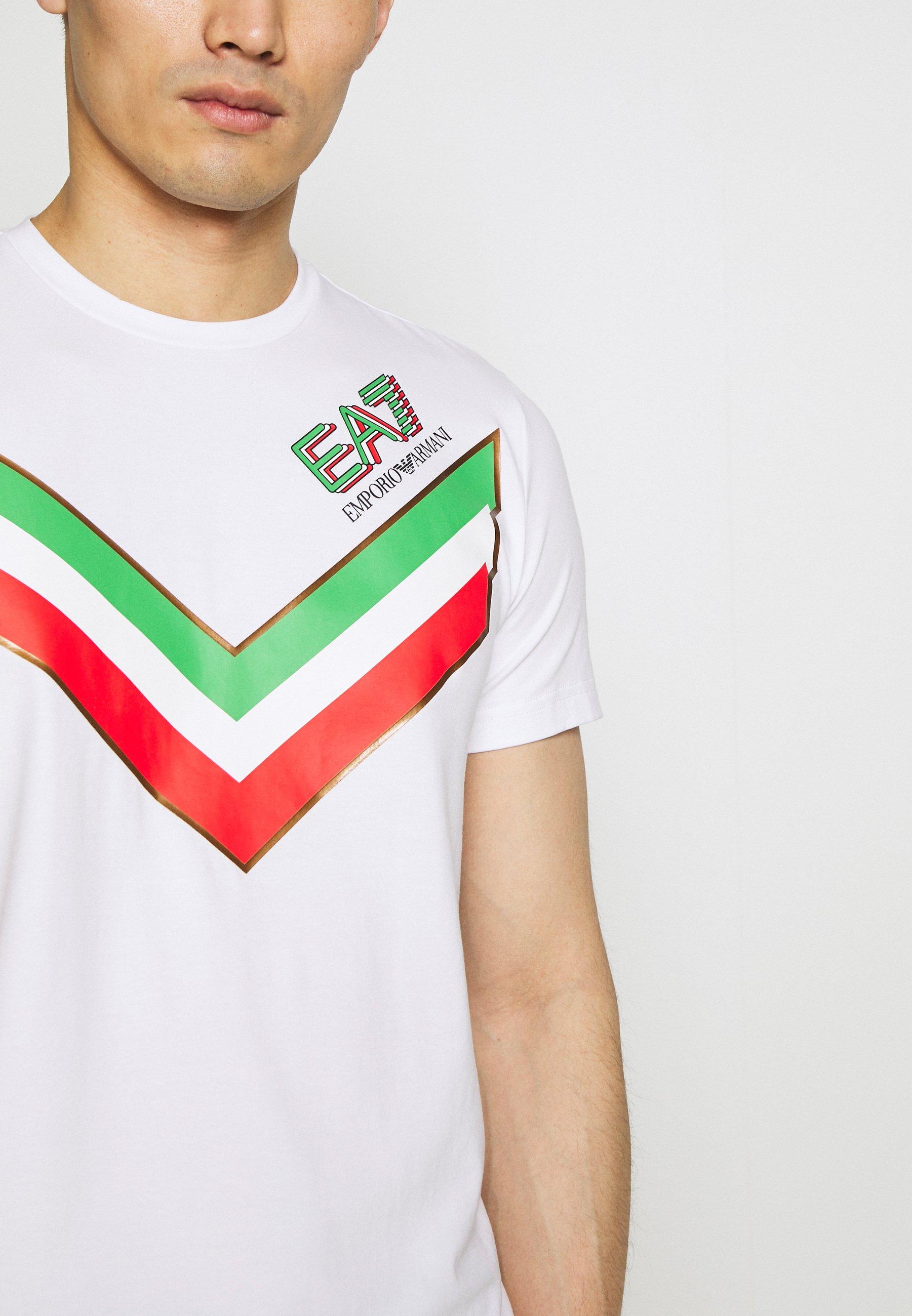 EA7 Emporio Armani Print T-shirt - white xcQ8y