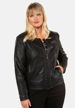 Faux leather jacket - zwart