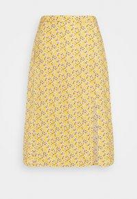 Hollister Co. - SLIP SKIRT - Gonna a campana - yellow floral - 3