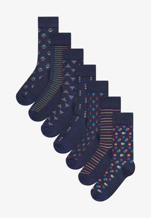 GEOMETRIC 8 PACK - Socks - dark blue