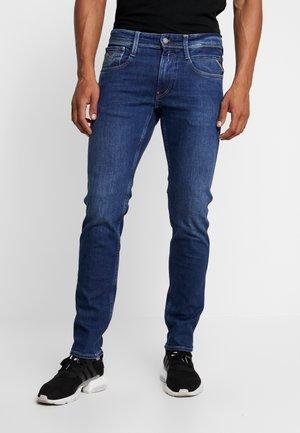 ANBASS - Jean slim - medium blue