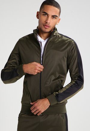 TRACK - Training jacket - olive/black