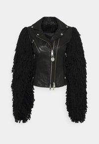 Diesel - L-ELIZABETH - Leather jacket - black - 0