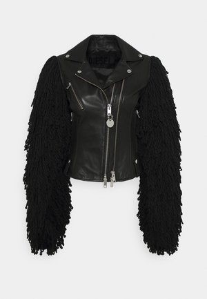 L-ELIZABETH - Leather jacket - black