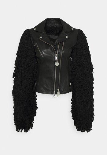 L-ELIZABETH - Kožená bunda - black
