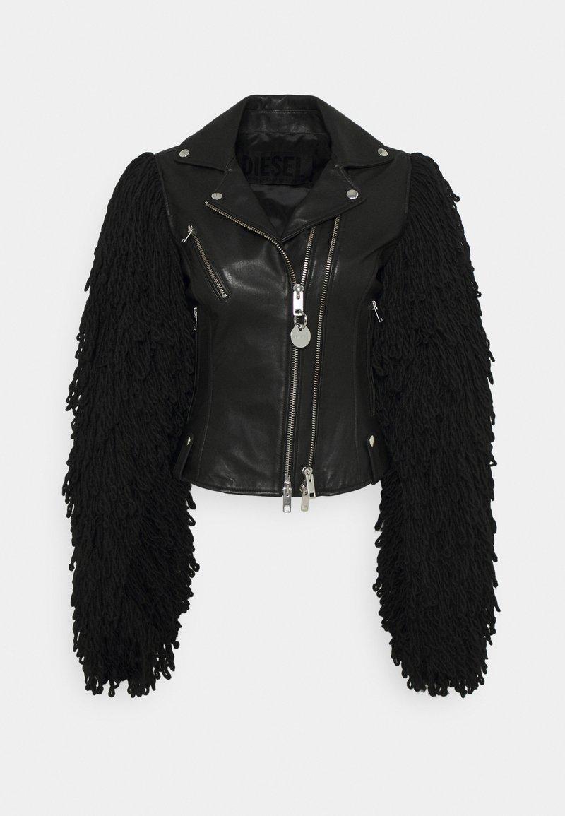 Diesel - L-ELIZABETH - Leather jacket - black
