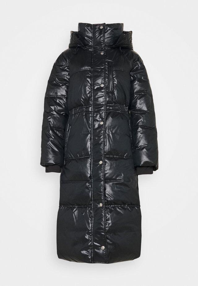 LONG PUFFER COAT - Winter coat - true black