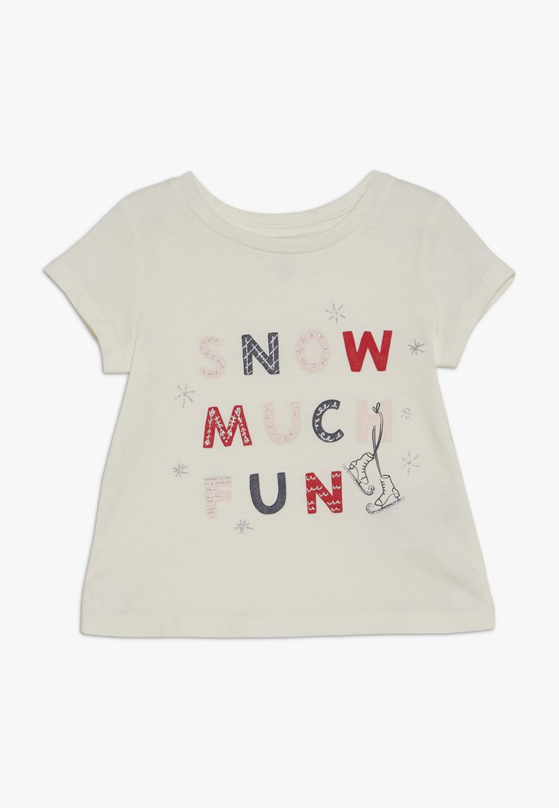 GAP - TODDLER GIRLS  - Camiseta estampada - ivory frost