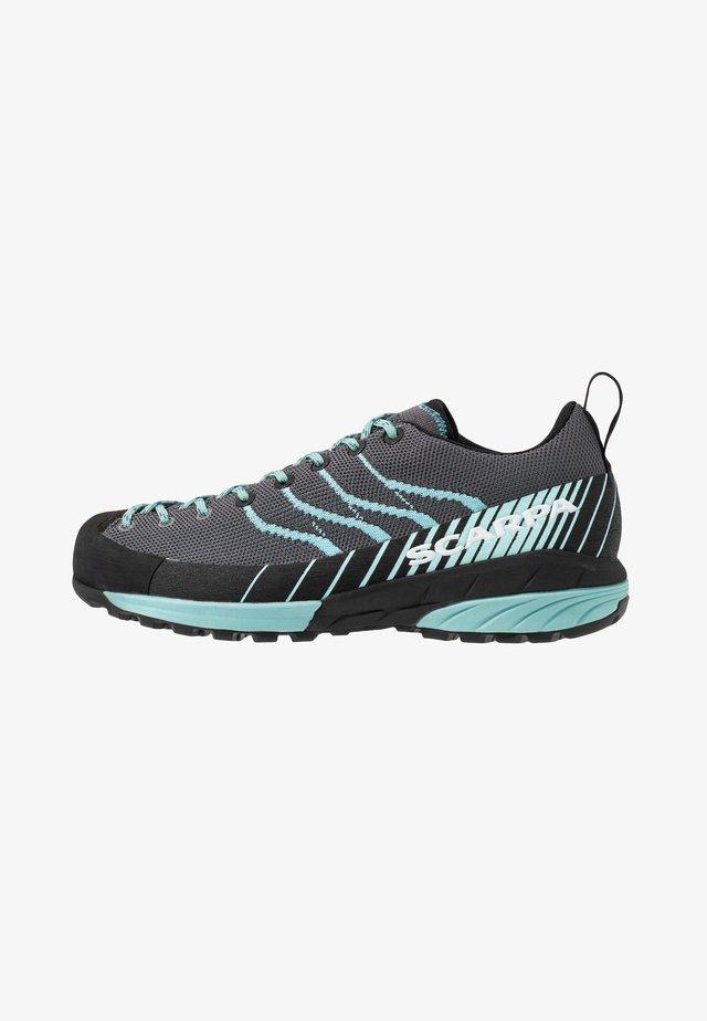 MESCALITO - Hiking shoes - gray/aqua