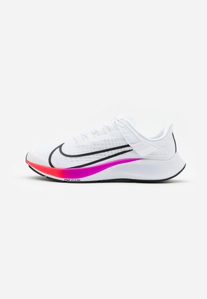 AIR ZOOM PEGASUS 37 FLYEASE - Neutrala löparskor - white/flash crimson/hyper violet