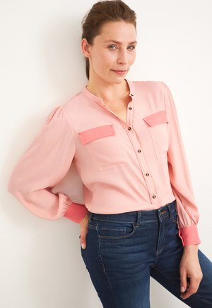 Button-down blouse - pink mehrfarbig