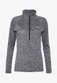 Under Armour - TECH ZIP TWIST - Sports shirt - black/metallic silver - 4
