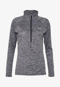 TECH ZIP TWIST - Treningsskjorter - black/metallic silver