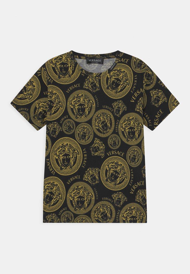 Versace - MEDUSA PRINT UNISEX - Print T-shirt - black/gold