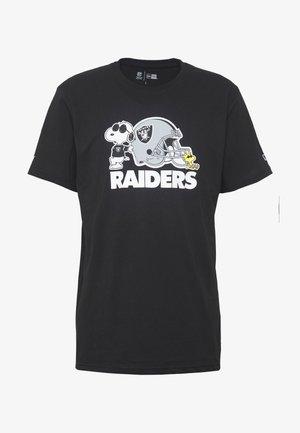 NFL SNOOPY TEE OAKLAND RAIDERS - Goalkeeper shirt - black