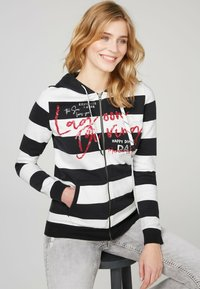 Soccx - ARTWORK - Zip-up sweatshirt - ivory / deep sea - 2