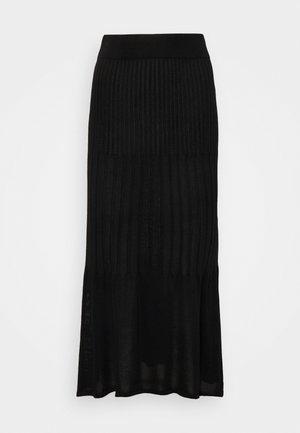 FLARE OUT SKIRT - Maxi skirt - black