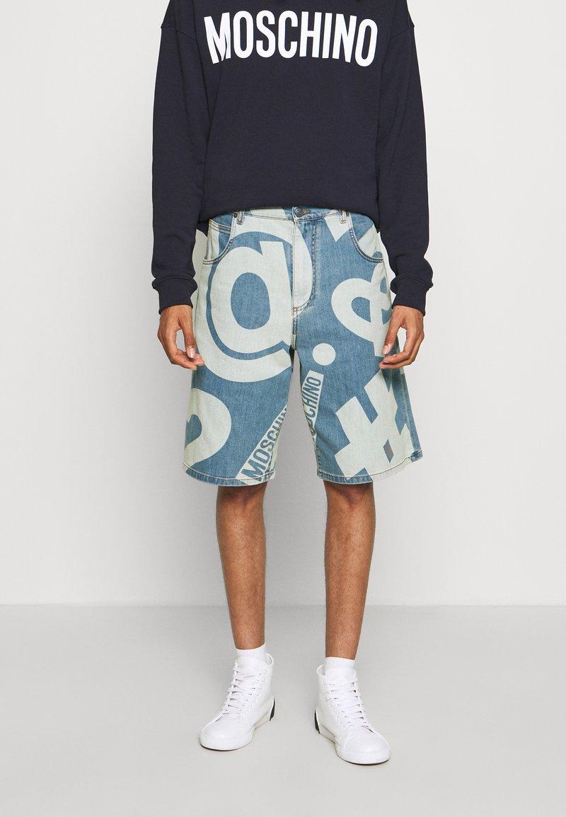 MOSCHINO - TROUSERS - Denim shorts - fantasy blue
