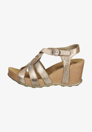 Sandalen met sleehak - luna