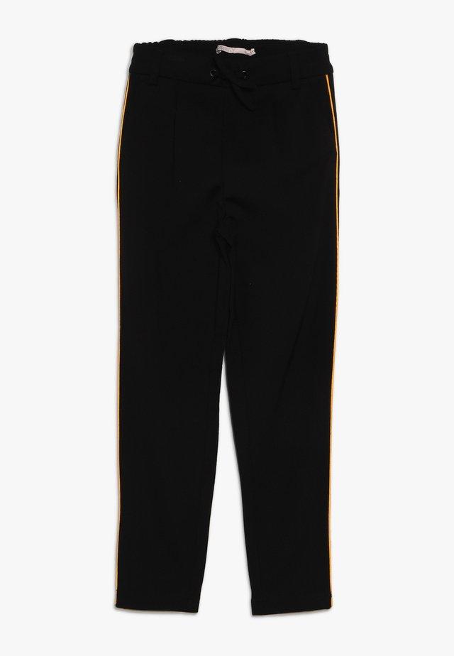 KONPOPTRASH SNAKE PANEL PANT - Pantaloni sportivi - black/orange