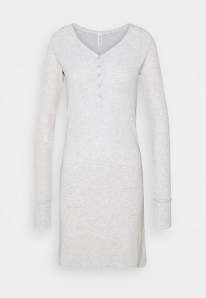 LONGSLEEVE HENLEYNIGHTIE - Nightie - soft grey marle