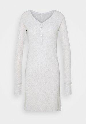 LONGSLEEVE HENLEYNIGHTIE - Noční košile - soft grey marle