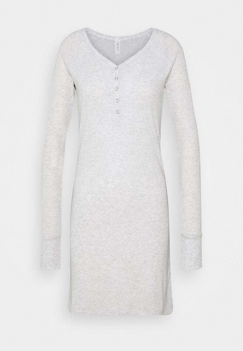 Cotton On Body - LONGSLEEVE HENLEYNIGHTIE - Nightie - soft grey marle