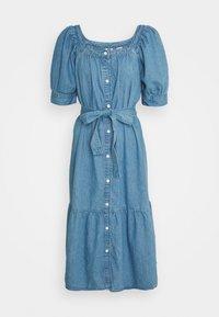 MIKA DRESS - Denim dress - blue denim
