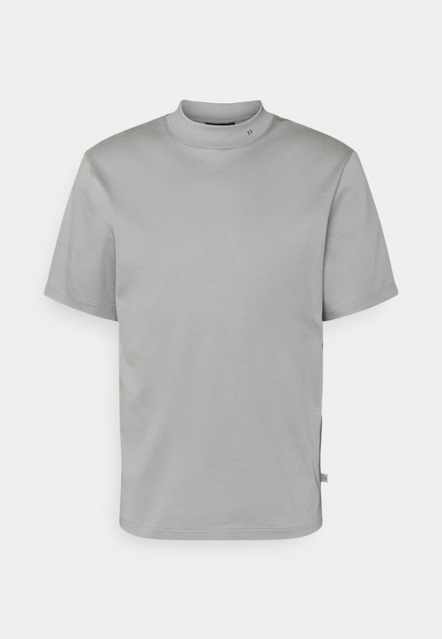 ACE MOCK NECK - T-shirts - mid grey