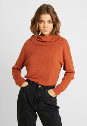 JDYVALLEY TREATS COWLNECK PULLO - Jumper - arabian spice