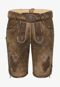 Spieth & Wensky - Leather trousers - brown - 4