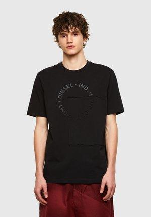 T-JUSTEMB - Print T-shirt - black