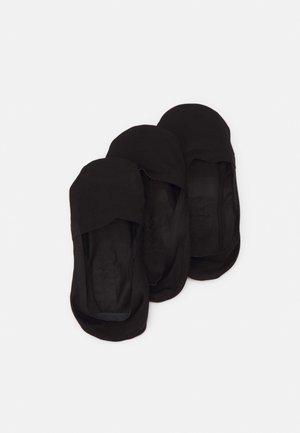 INVISIBLE SOCKS 3 PACK - Trainer socks - black