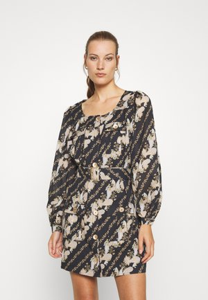 BRONTE UTILITY MINI DRESS - Day dress - black