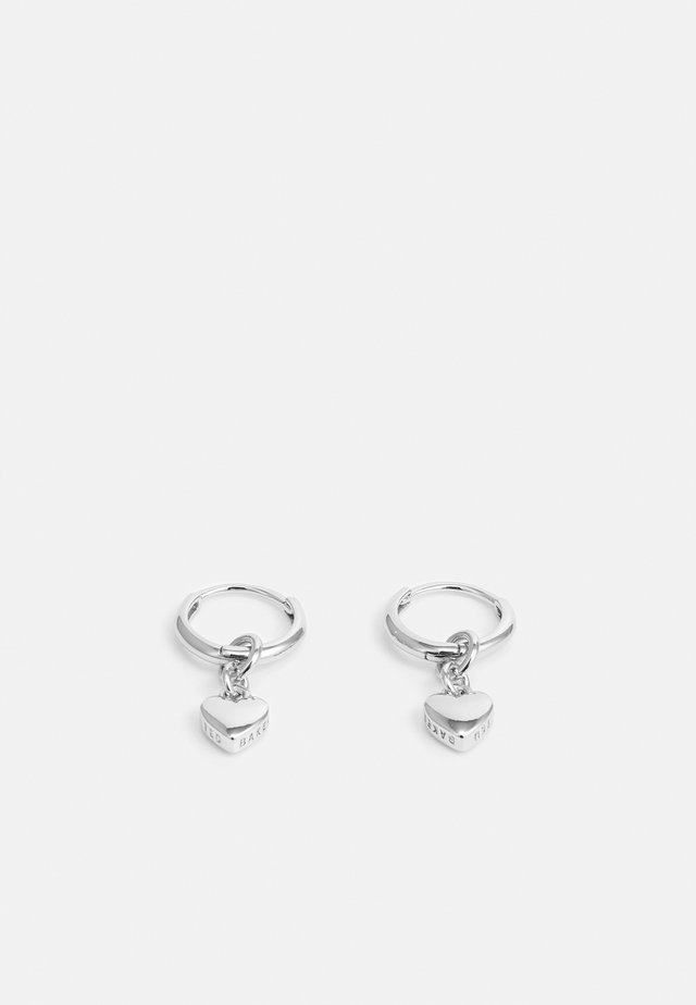 HARRIE TINY HEART HUGGIE EARRING - Earrings - silver-coloured