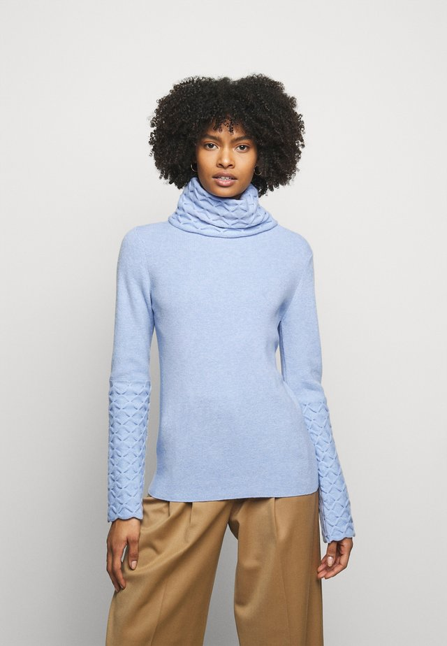 HONEYCOMB JUMPER - Maglione - powder blue