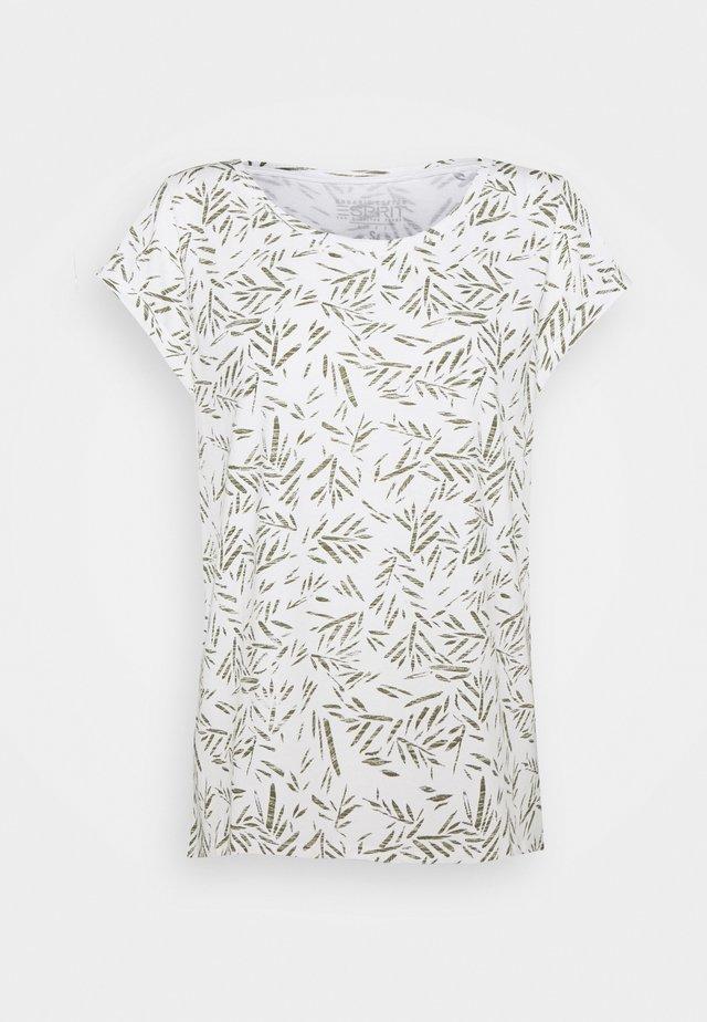 CORE - Printtipaita - off white