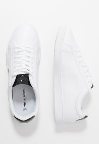 Lacoste - CARNABY EVO  - Trainers - white/black - 3